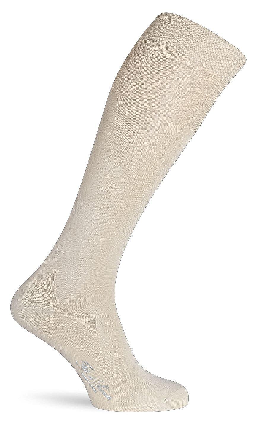 domenicomaggio Calza lunga da uomo maglia jersey in filato 100/% filo di scozia
