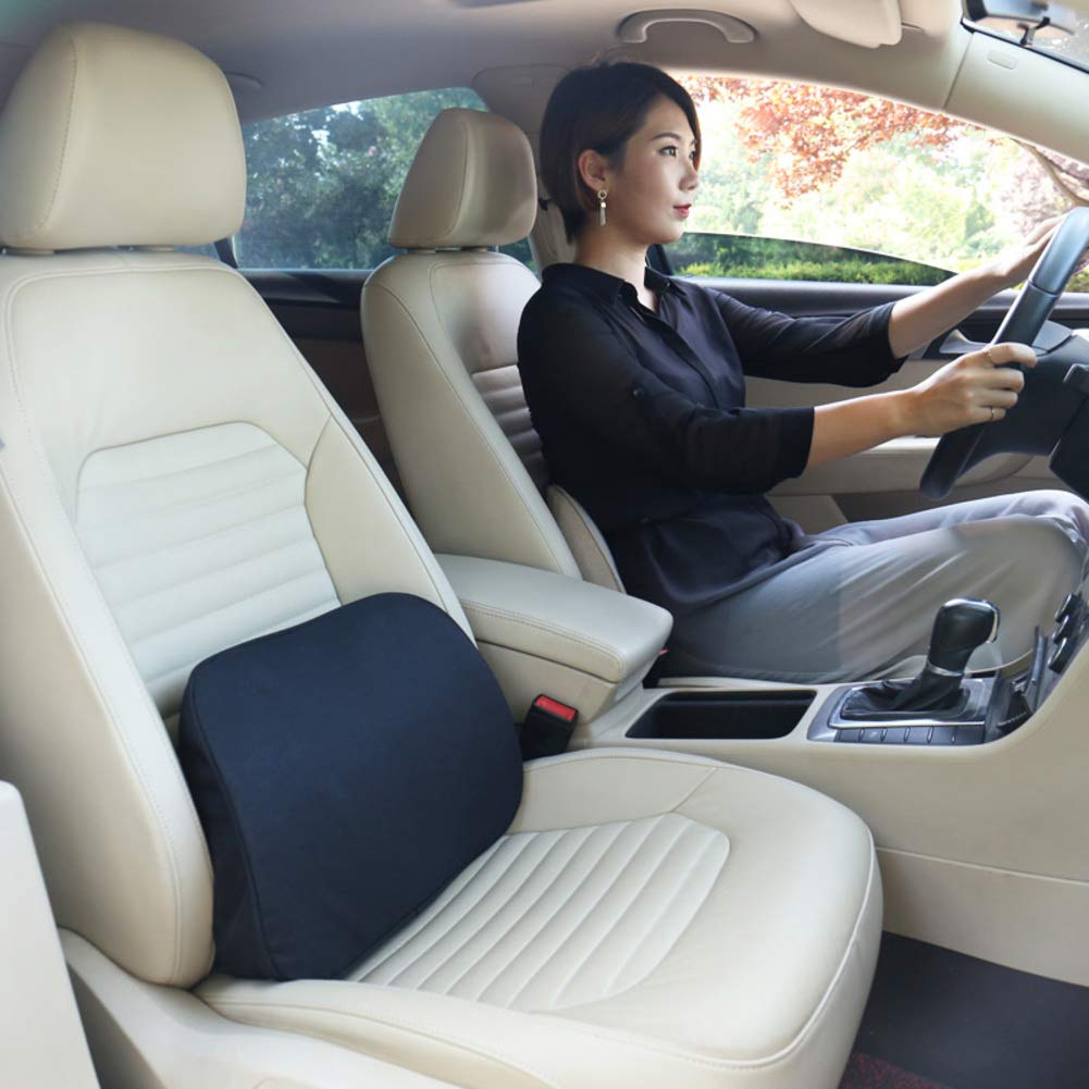 XJ&DD Car Lumbar Memory Cotton,Car Office Lumbar Cushion,for Back Pain Relief Improve Posture Home Computer Games-G 42x28cm(17x11inch) by XJ&DD (Image #4)