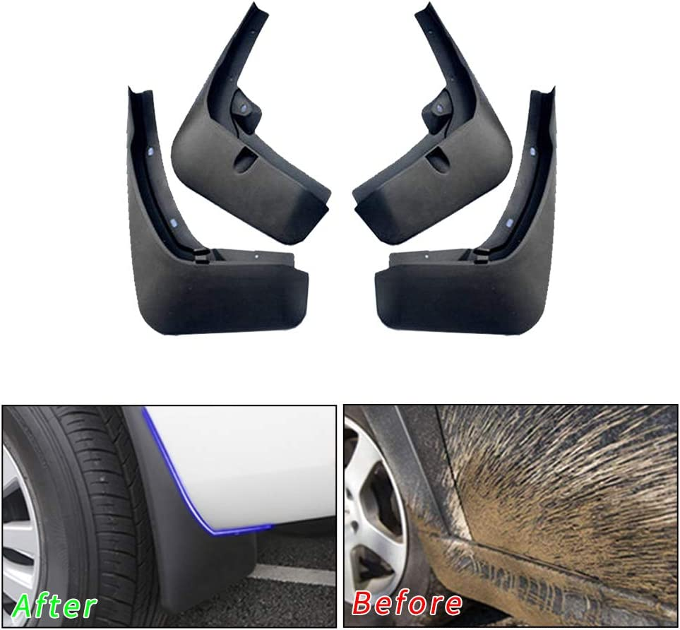 For Audi Q7 Sport Models 2007-2015 Car Mud Flaps Splash Guards Mudguard Front and Rear Fender Accessories 4Pcs Set with Screw