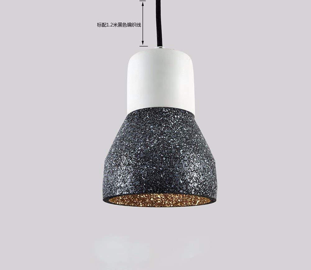 GUI Guo Home Vintage Kronleuchter Kreative Home Beleuchtung Persönlichkeit Restaurant Schlafzimmer Wohnzimmer Leuchte Zement Retro Mini Taschenlampe 120  210 Mm Schwarz