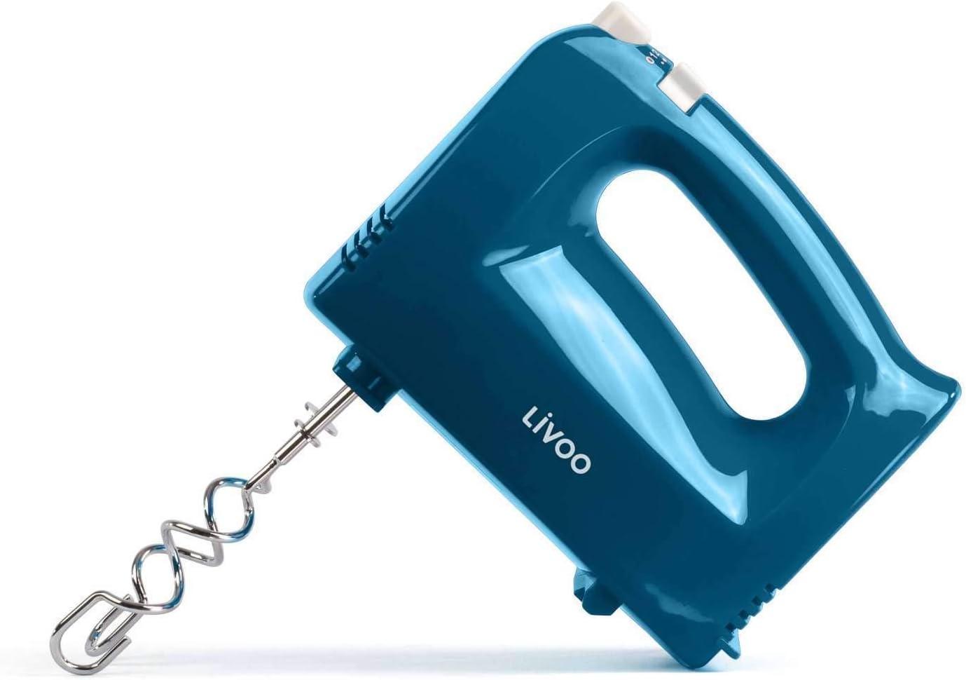 gancio impastatore, frusta da 200 Watt, pulsante di espulsione, frullatore, mescolatore, blu Frusta da cucina a 5 livelli per mescolare manualmente