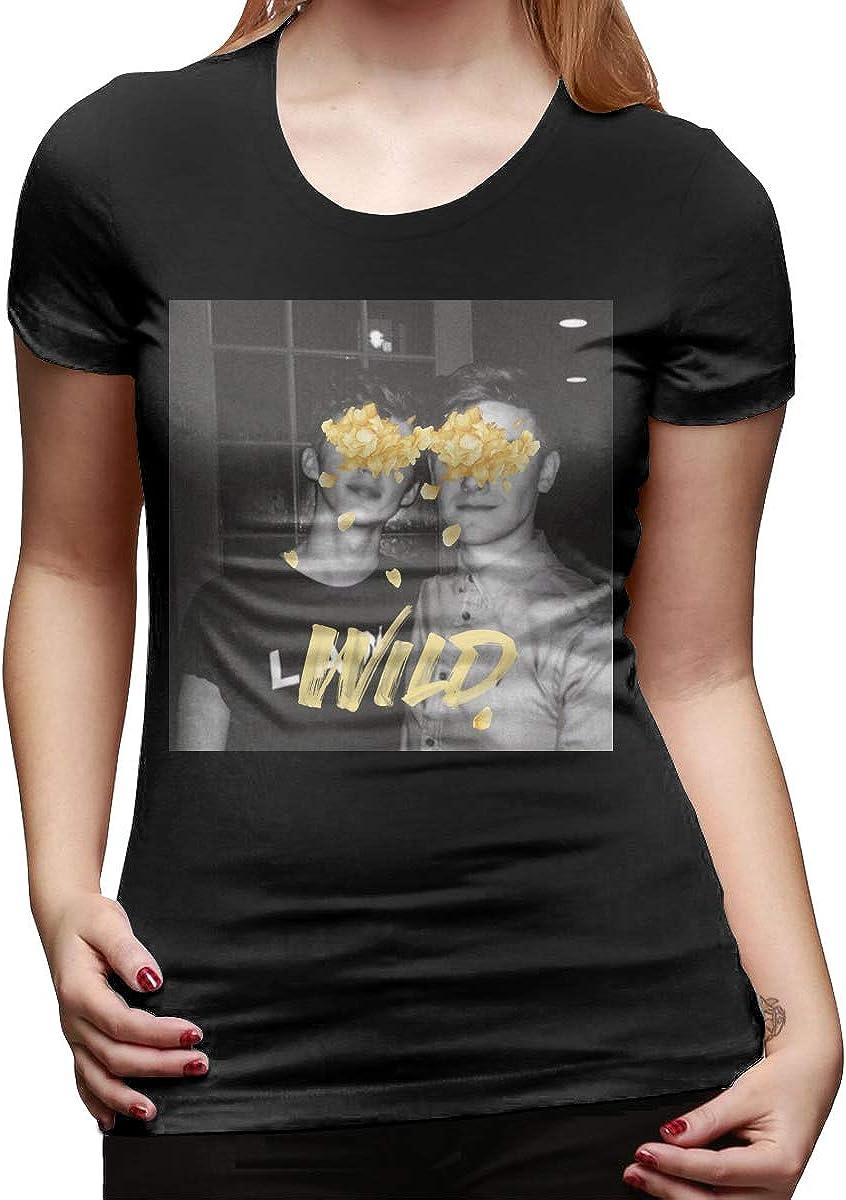 Ayobaby Troye Sivan Wild Shirt Womens Girl Stylish Novelty New Summer Short Sleeve Tee Tops Black