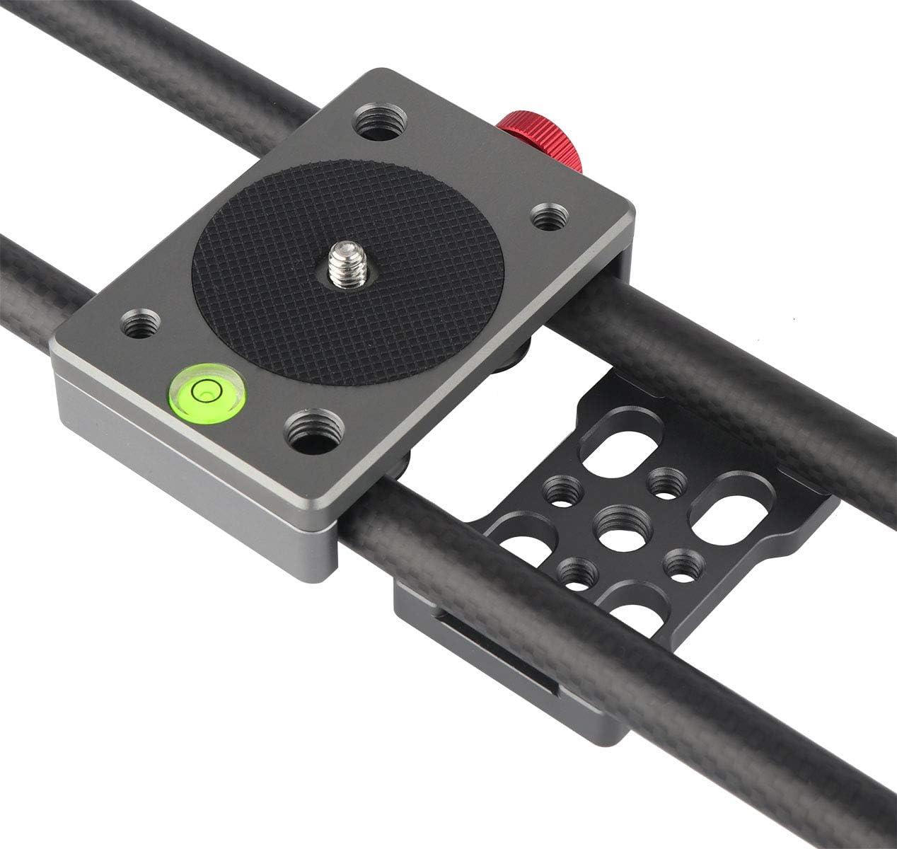 Camera Belt Strap 42cm Carbon Fiber Camera Track Slider Video Stabilizer DSLR Camera Rail Camcorder Filming Photo with 1//4 Screw Mount Holes Durable