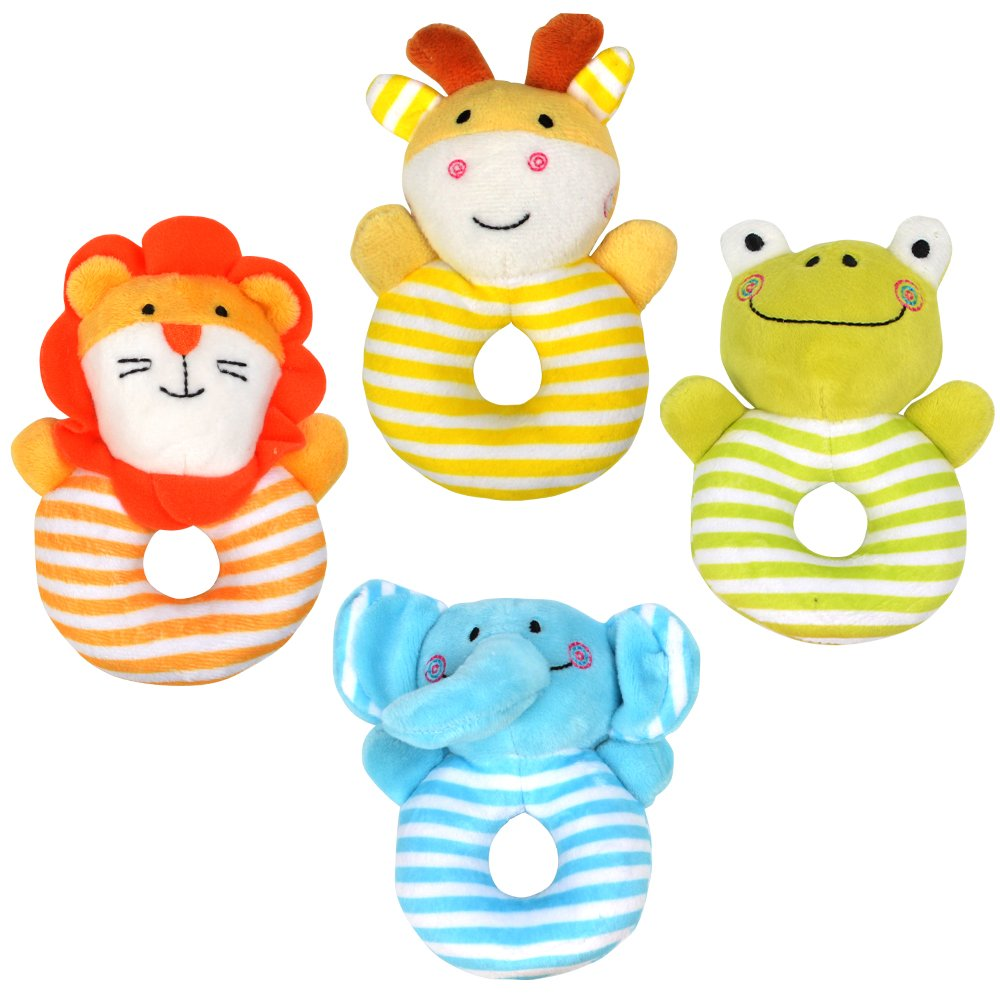 TUMAMA Soft Rattle Baby Toys Suitable for Newborn (4-PCS)