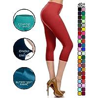 283a0e6ec78 Leggings Depot High Waisted Capri Leggings - Soft   Slim - 37+ Colors