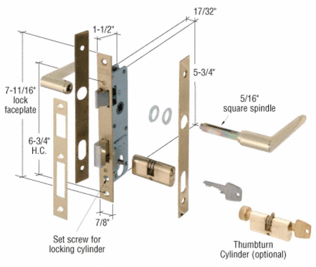 Brass Storm Door Mortise Lock 6 34 Screw Holes Screen Door