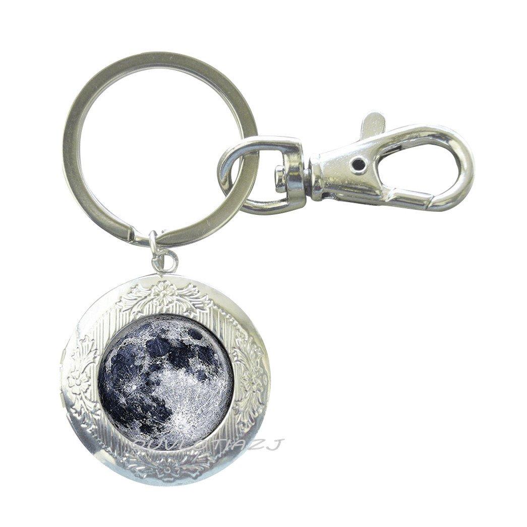 Llavero con diseño de luna, llavero de encaje de luna ...