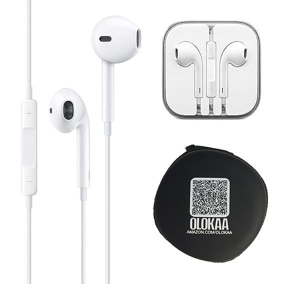 7c406356874 100% Genuine Original Apple Earpods with Olokaa (TM)brand Headphone Case:  Amazon.in: Electronics