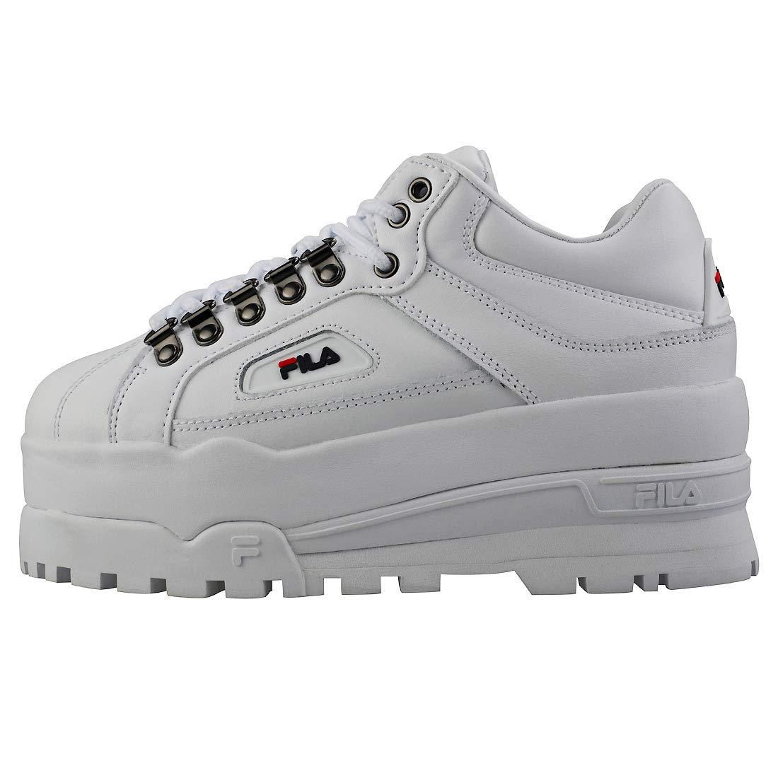 be5206278bd0 Amazon.com  Fila Trailblazer Wedge Womens Sneakers White  Clothing