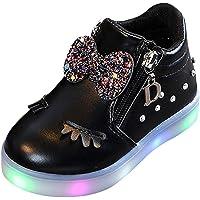 Riou Botas para Niños Zapatos Blancos LED Zapatillas Deportivas Antideslizante Bebe Chicos Chicas Zapatos Calzado Ocio…