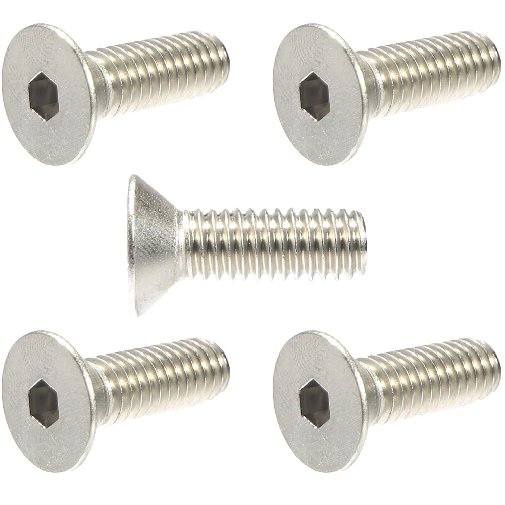 Countersunk Head 3//8-16 x 1-1//2 Flat Head Socket Cap Screws 18-8 Stainless Steel Quantity 10 Allen Hex Drive by Fastenere