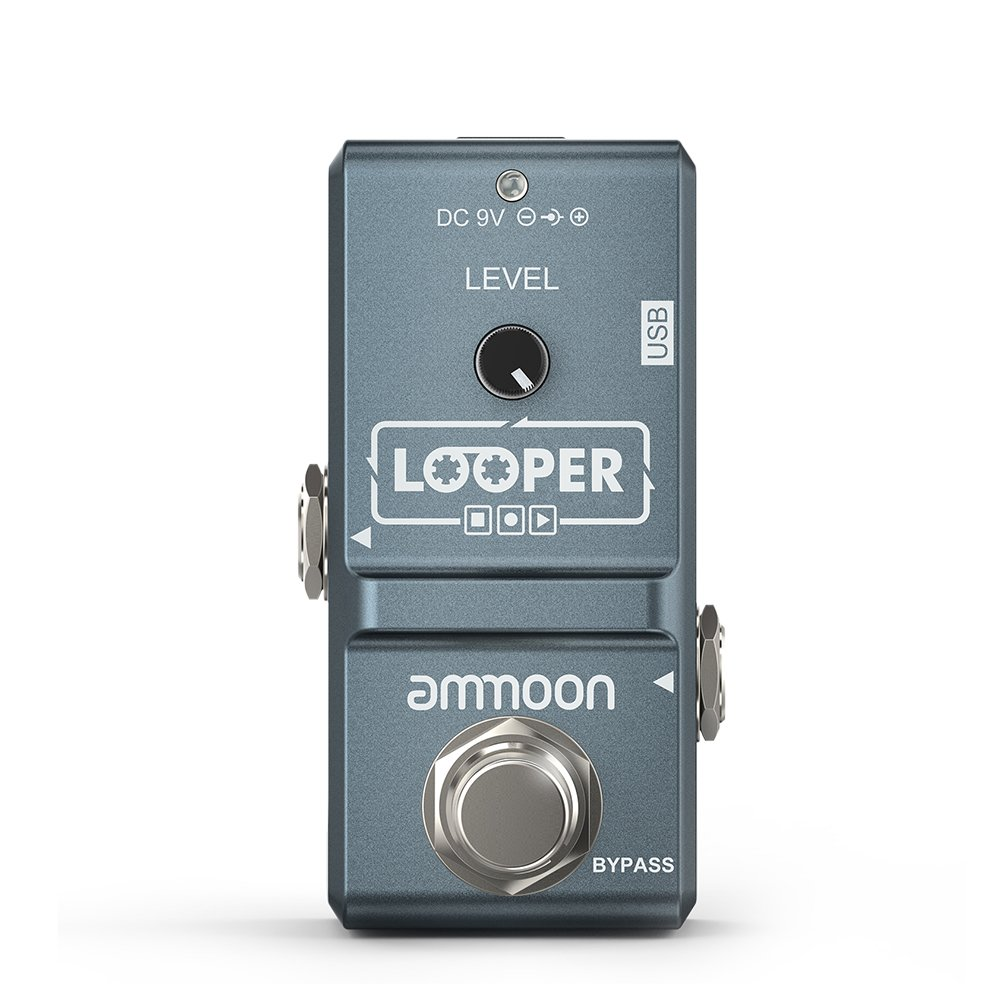 ammoon AP-09 Nano Loop Electric Guitar Effect Pedal Looper True Bypass Unlimited Overdubs 10 Minutes Recording with USB Cable