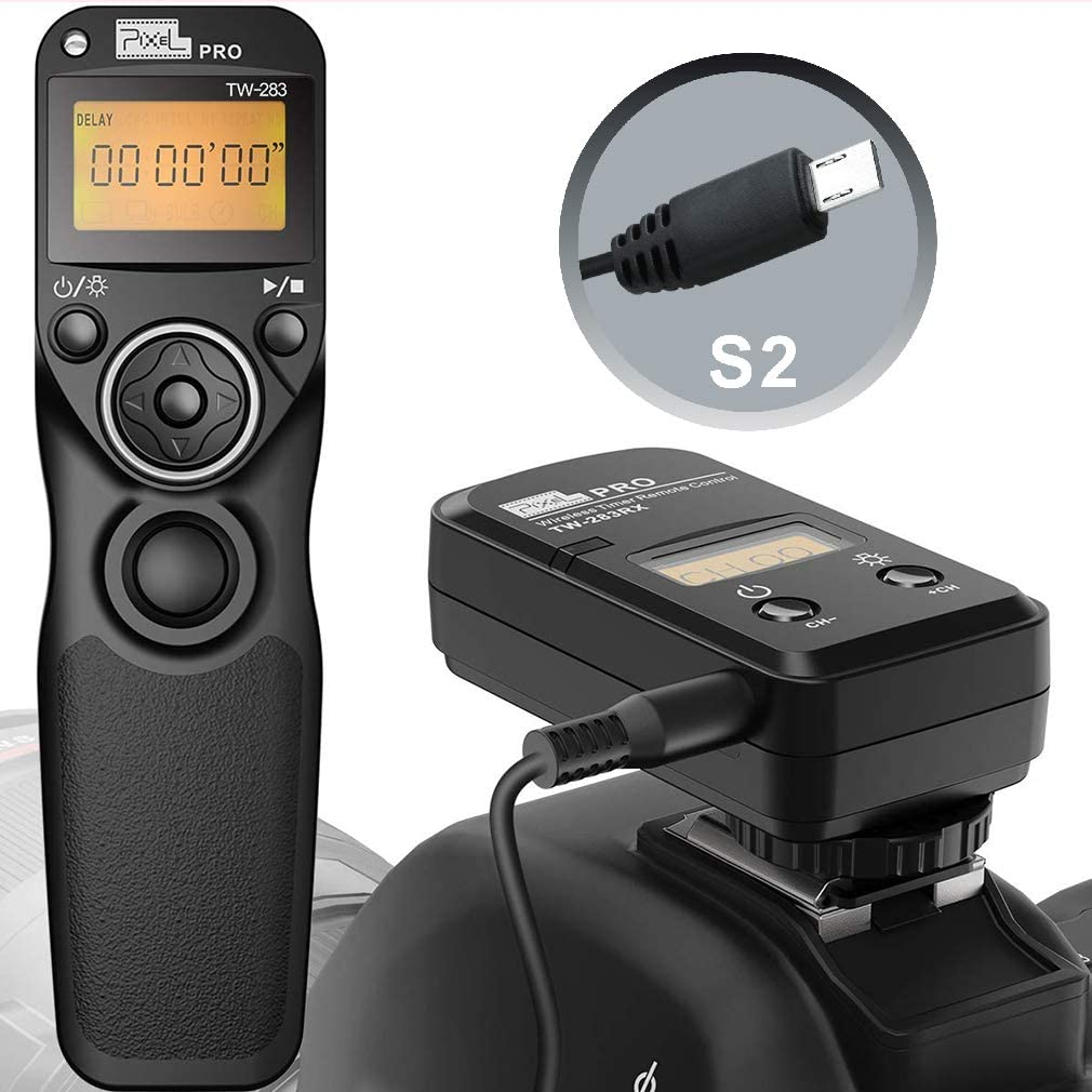 Pixel Timer Shutter Release Remote Control TW283-S2 Remote Release for Sony A58 A7 A7II A7R A7RII A7S A3000 A5000 A5100 A6500 RX100II HX300 HX400V HX50V HX90V RX100MIII