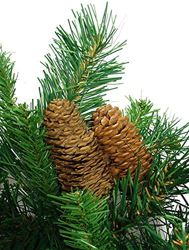Vickerman 42'' Cheyenne Pine Artificial Christmas Teardrop Swag with Pine Cones - Unlit by Vickerman (Image #2)