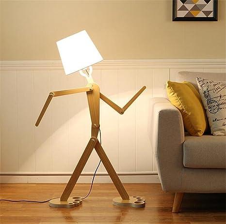 Lámparas de pie Lámpara De Pie De Madera Moderno ...