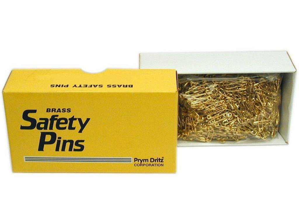 Dritz Notions Prym Bulk Safety Pins Gilt Plated Brass 2/0 BlkSPinGiltPlatedBrass20(Clsd) by Dritz