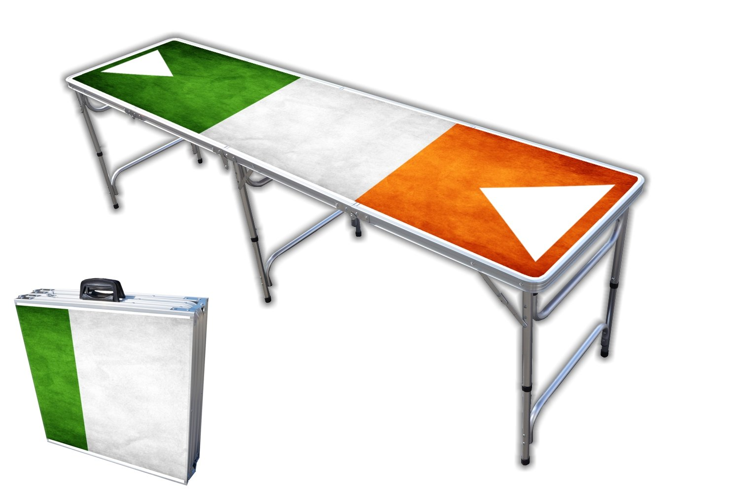 8-Foot Professional Beer Pong Table - Shenanigans Graphic by PartyPongTables.com