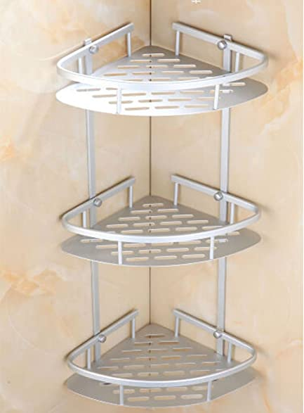 Amazon.com: Triangular Shower Caddy Shelf Bathroom Wall Corner Rack ...