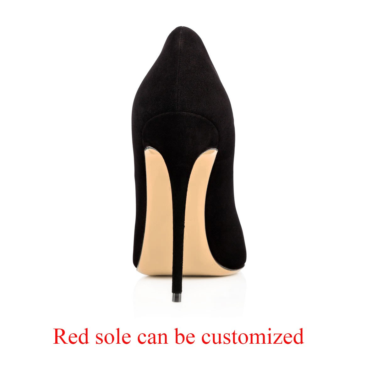 Modemoven Women's Pointy Toe High Heels Slip On Stilettos Large Size Wedding Party Evening Pumps Shoes B0773S8M6Z 12 B(M) US|Black Suede
