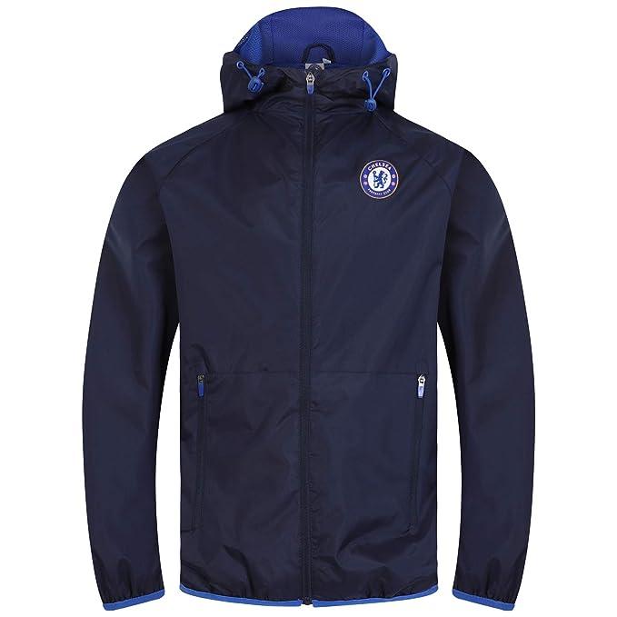 Chelsea FC - Chaqueta cortavientos oficial - Para hombre: Amazon.es: Ropa y accesorios