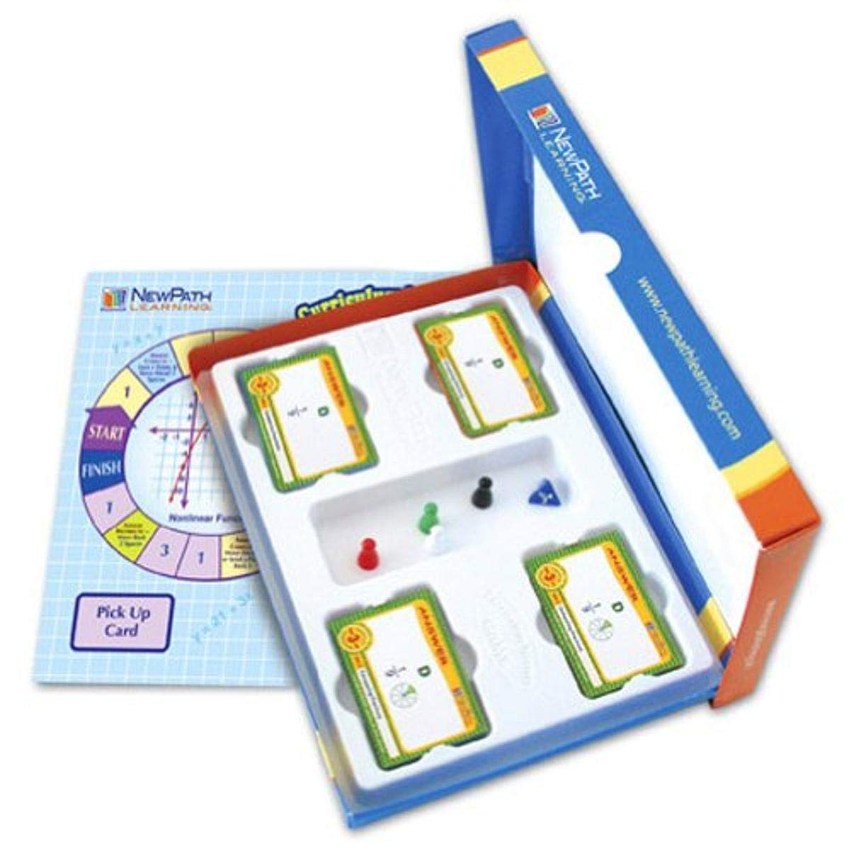 NewPath Learning - 23-6402 Algebra Skills Curriculum Mastery Game, Grade 6-10, Study-Group Pack