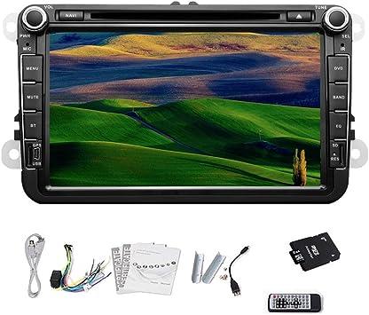 Pupug coche est¨¦reo DVD GPS Bluetooth IPod RDS TV Radio Para Volkswagen VW de 8 pulgadas: Amazon.es: Electrónica