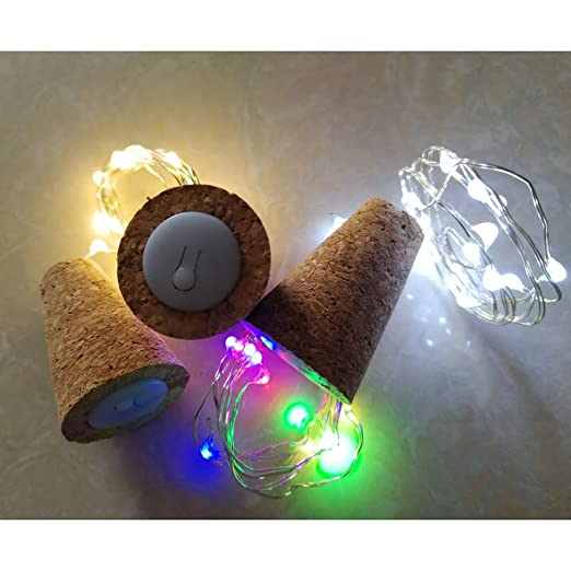 De botellas de vino de luces con corcho LED de corcho de luces de botellas de alambre de cobre de luces para DIY Navidad de Halloween de boda Decoración de ...