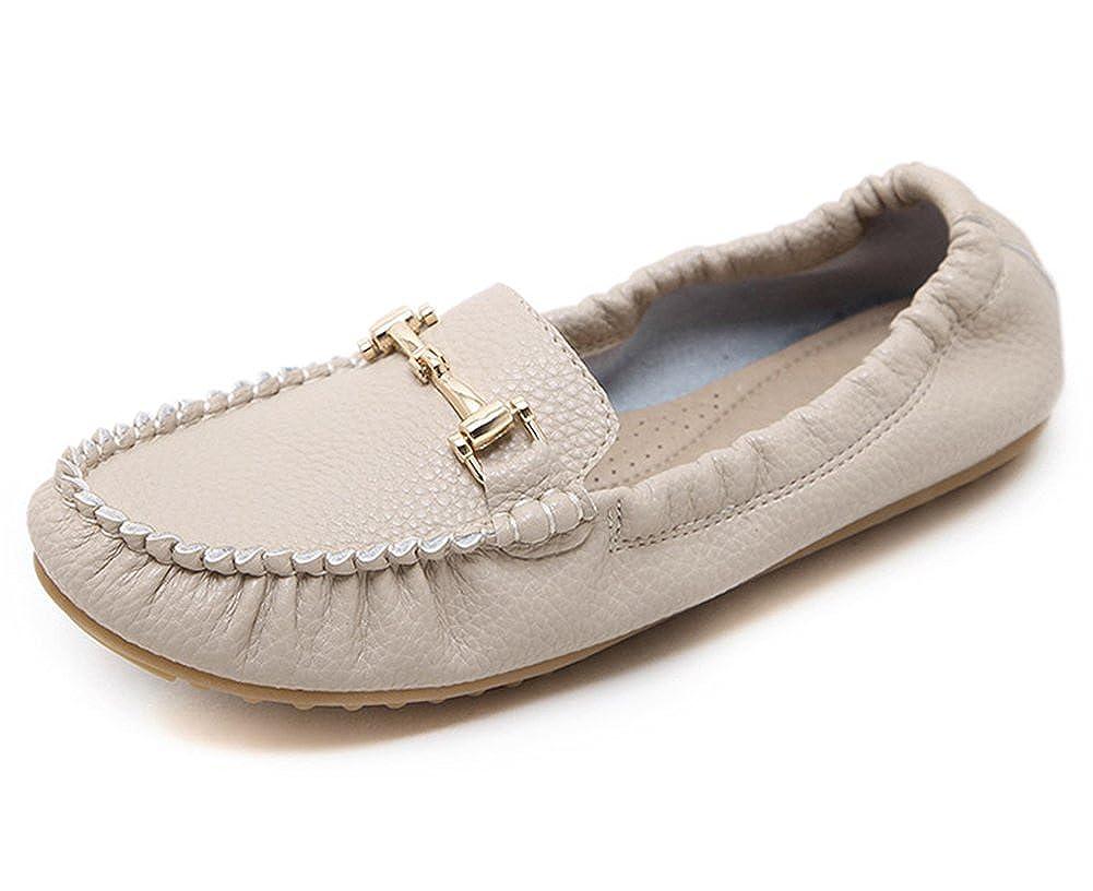 SFNLD Womens Stylish Round Toe Slip On Flats Pumps Shoes