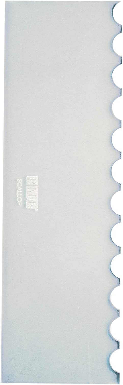 Amazon.com: PME PS64 Tall Patterned Edge Side Scraper for Cake Decorating-Scallop, 10 in, Transparent: Kitchen & Dining