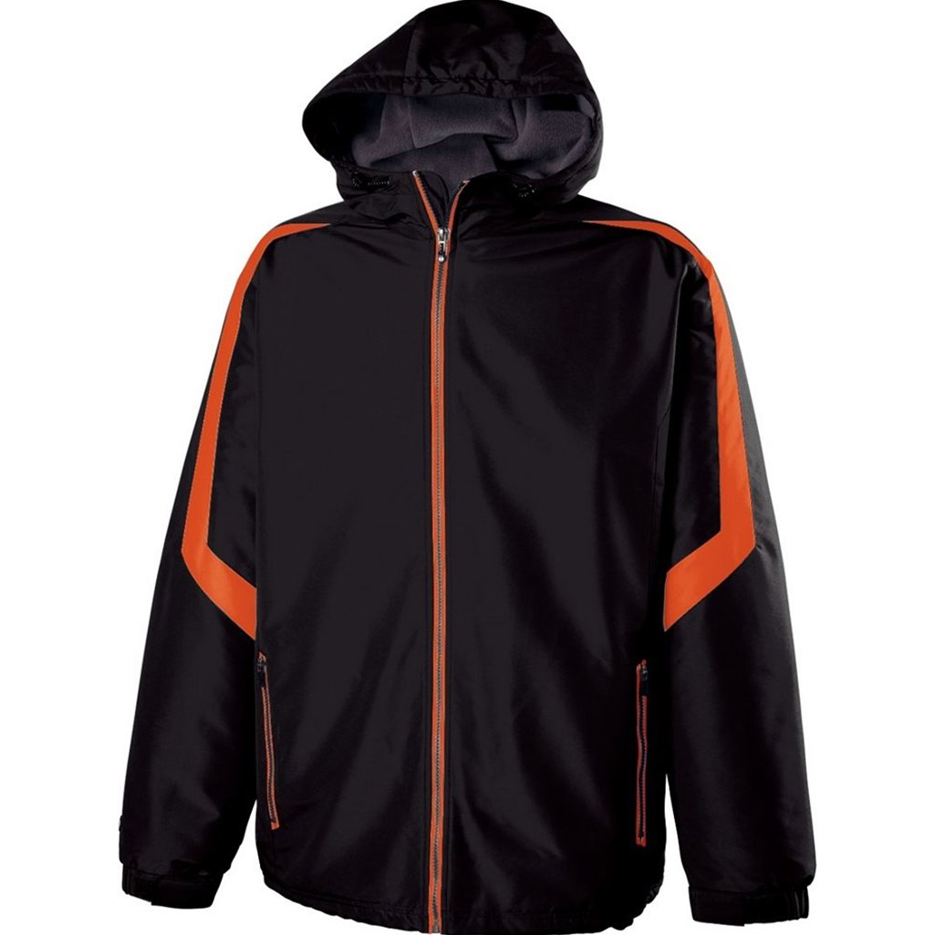 Holloway Youth Charger Jacket (Large, Black/Orange) by Holloway