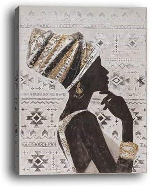 Wowdecor Murale Art Moderne Impressions sur Toile Peinture – Beauté  Africaine Fille côté Face giclée Photos Imprimé sur Toile, Décor Mural Home  Salon ...