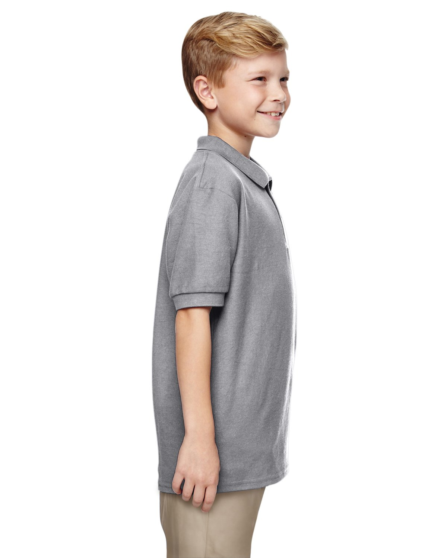 Gildan Boys DryBlend 6.3 oz. Double Piqué Sport Shirt (G728B) -Sport Grey -M-12PK by Gildan (Image #3)
