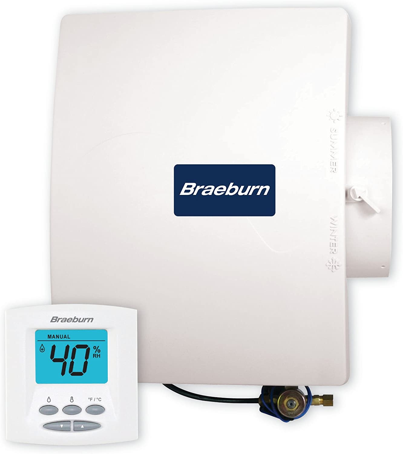 Braeburn BRA220650 White Humidifier Bypass Humidifier for up