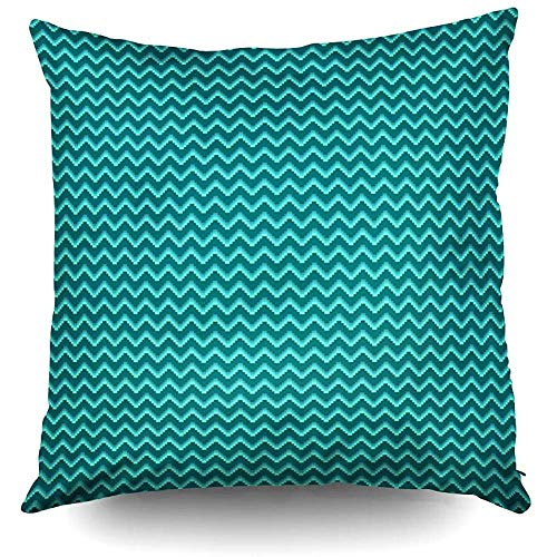 Halloween Pattern Pixel Art Wave Background Decorative Throw Pillow Case 18X18Inch,Home Decoration Pillowcase Zippered Pillow Covers Cushion Cover with Words for Book Lover Worm Sofa -