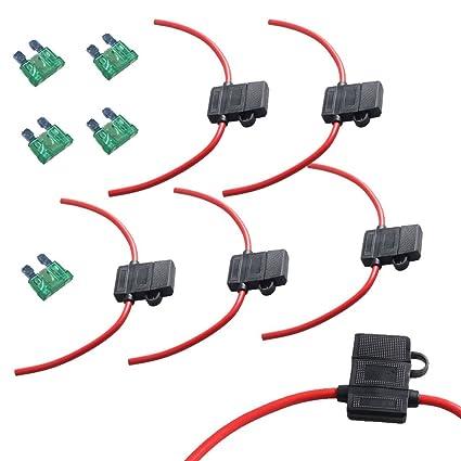 amazon com etopars 5 x 12 gauge atc fuse holder box in line awg rh amazon com Ford Fuse Box Fuse Box Wiring to Accessories