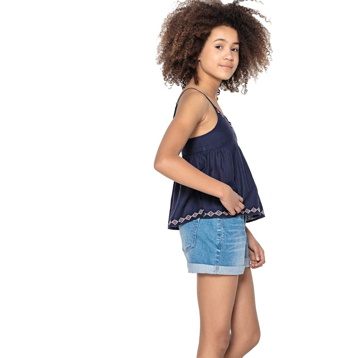 La Redoute Uniross Folk Embroidered Top 10-16 Years