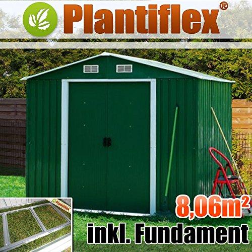 Casa de metal dispositivo 260 x 310 Plan Tiflex Caseta jardín hogar jardín Caseta, verde: Amazon.es: Jardín