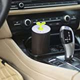 USB Vaporizer Aroma Diffuser Aromatherapy Essential Oil Diffuser for Car,Dark Wood Grain Vehicle Air Purifier Waterless Fragrance Nebulizer with Oil Bottle for Home Office Travel,3 Modes - Amalfor
