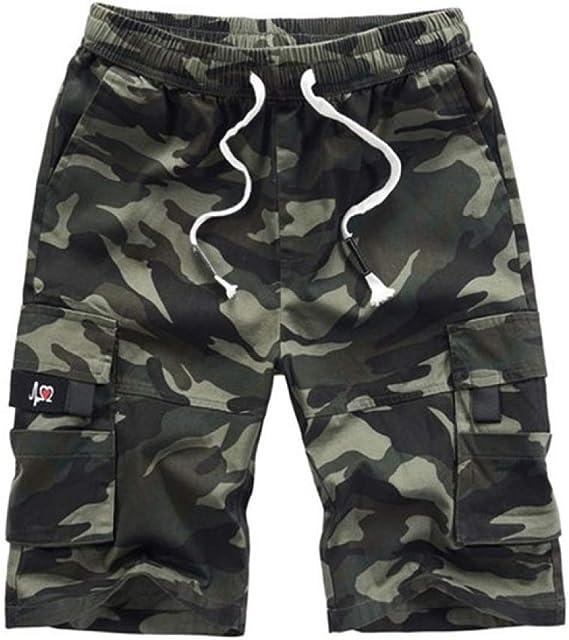 Ninguna Marca para Hombre Pantalones Cortos de Verano de Camuflaje ...