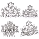 Utopiat Adult Pearl Tiara Hair Piece for Girls | Inspired by Breakfast at Tiffany's