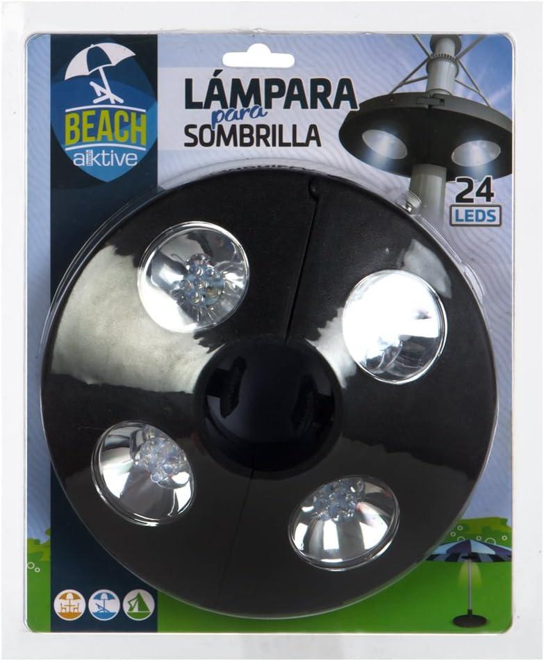 4 LEDS para sombrilla L/ámpara de 24 53763 Aktive