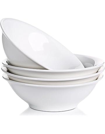 Juego de LIFVER cuencos de sopa / pasta / ensaladas de porcelana de 1300 ml,