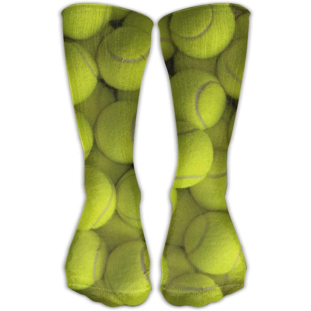Tennis Balls Unisex Novelty Crew Socks Ankle Dress Socks Fits Shoe Size 6-10
