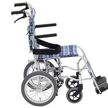 Silla de ruedas Rampas Plegable Scooter Viaje para Personas Mayores Puede Estar En El Avión Luz Plegable 8.9kg Carro Carga 100kg Ayudas para la: Amazon.es: ...