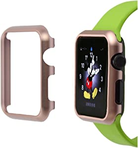 Josi Minea iWatch [ 40mm ] Aluminum Protective Shell Bumper Cover Case - Shockproof & Anti-Scratch Shield Guard Compatible with Apple Watch Series 5 & 4 [ 40mm - Rose Gold ]