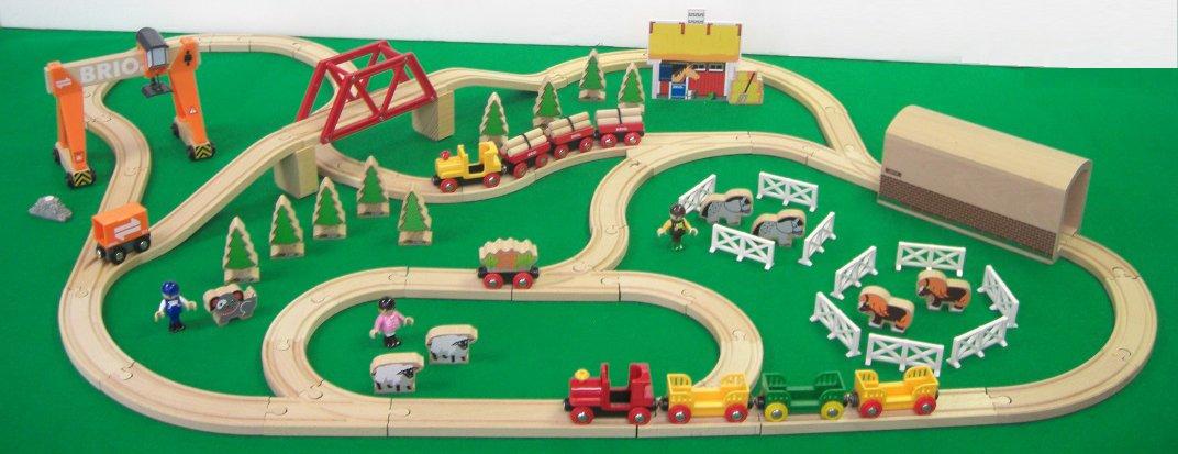 """BRIO 2014 """"N Christmas Rail Set 80000-117"""