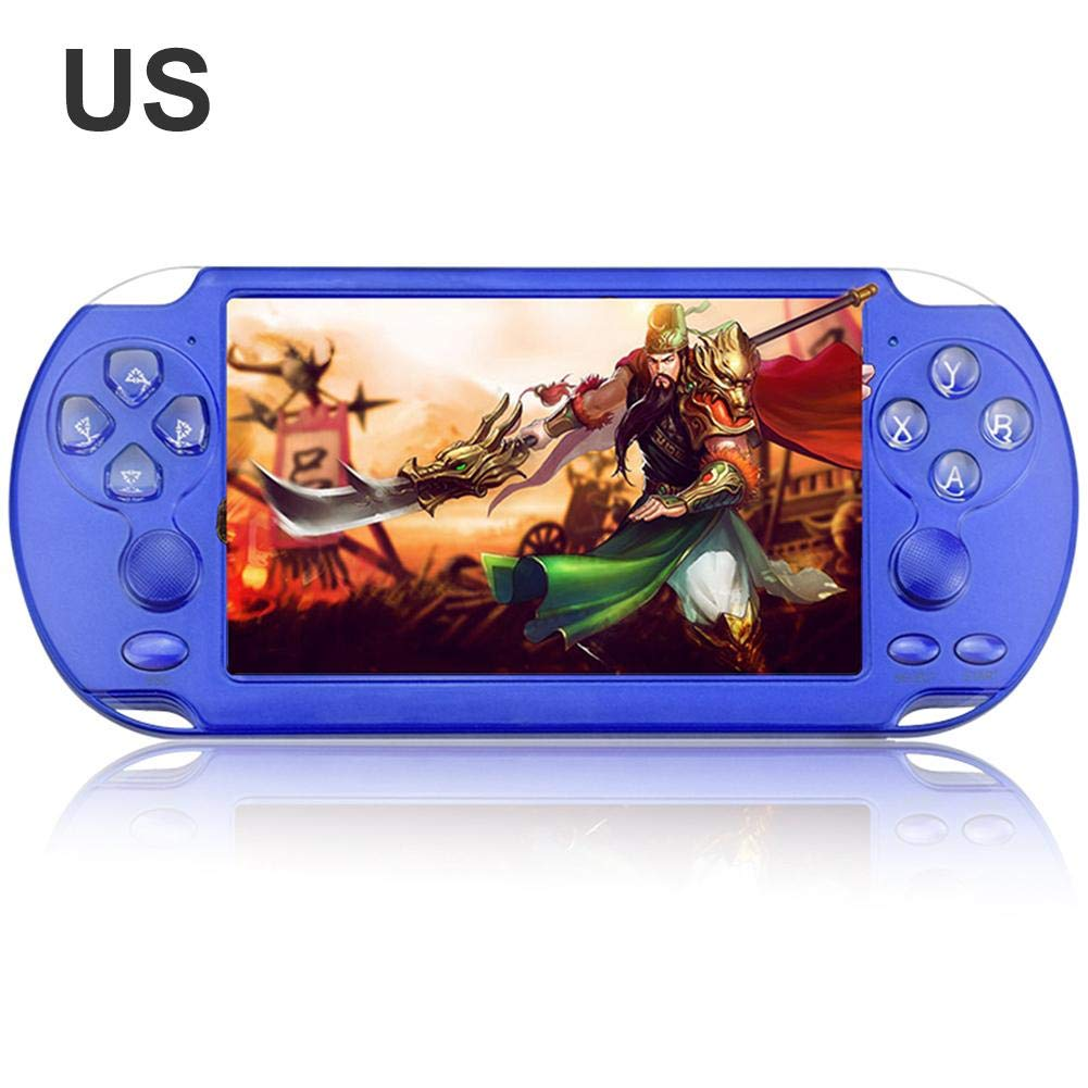 X9-S Portable Game Player - 8GB 8/16/32/64/128Bit Video MP3 Player - 5.1Inch Double Rocker Handheld Retro Game Console for Kids Adults Gaming Battle by Yunhigh (Image #2)