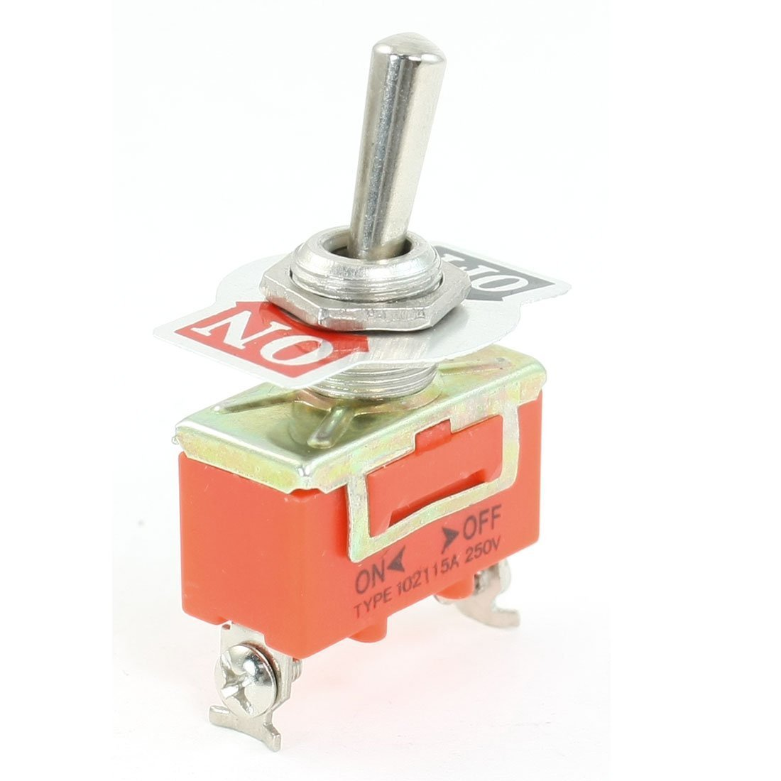 sourcingmap® 30 x 28 x 19mm SPST ON/OFF 2 Position 2 Screw Terminals Toggle Switch AC 250V 15A a13050400ux0522