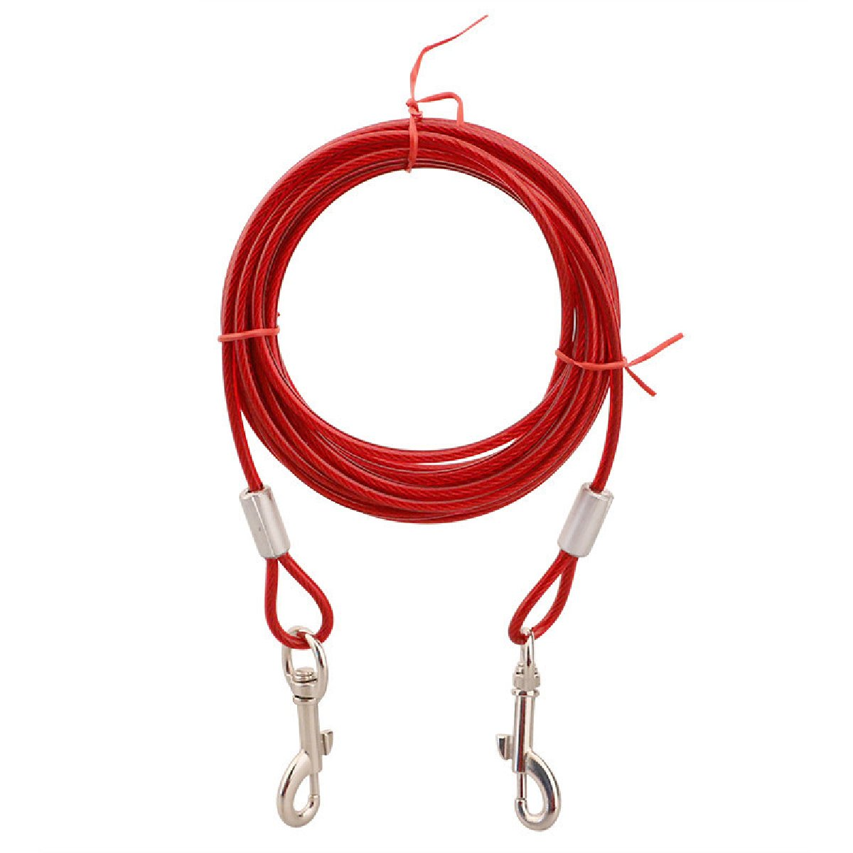 Tie Out Cable for Dogs, 16 ft, Red
