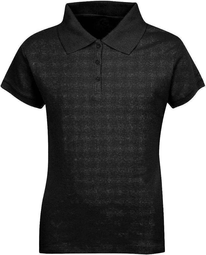 Premium Short Sleeves Girls Polo Shirts Black XXS 3/4 at Amazon Women's  Clothing store